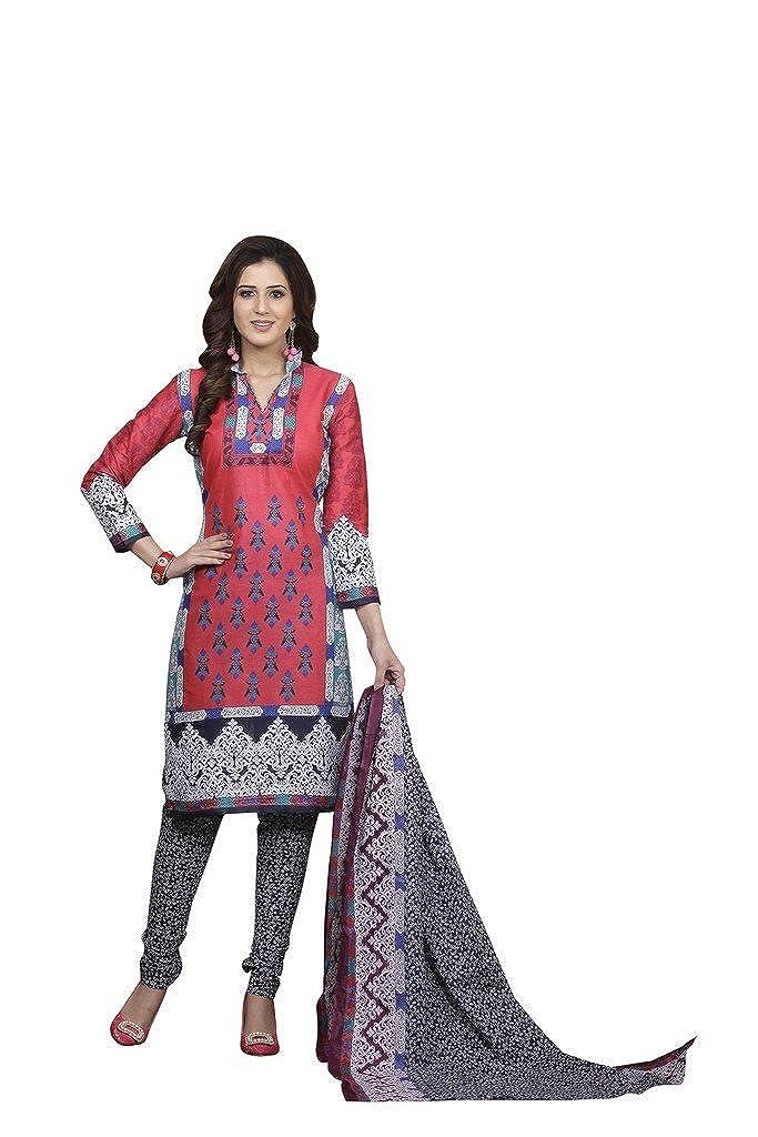 MINU Women's Churidaar Kurta With Dupatta Stitched Suit