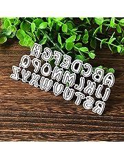 Huhuswwbin, fustelle in metallo, fustelle a forma di lettere dell'alfabeto, fustella in metallo, fustella per scrapbooking, cartoline fai da te