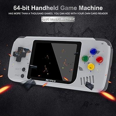 Ablerfly Máquina portátil de Juegos portátil para FC GBA SFC MD PS NGP, máquina portátil de Juegos de código Abierto de 64 bits Trendy Value Graceful: Hogar