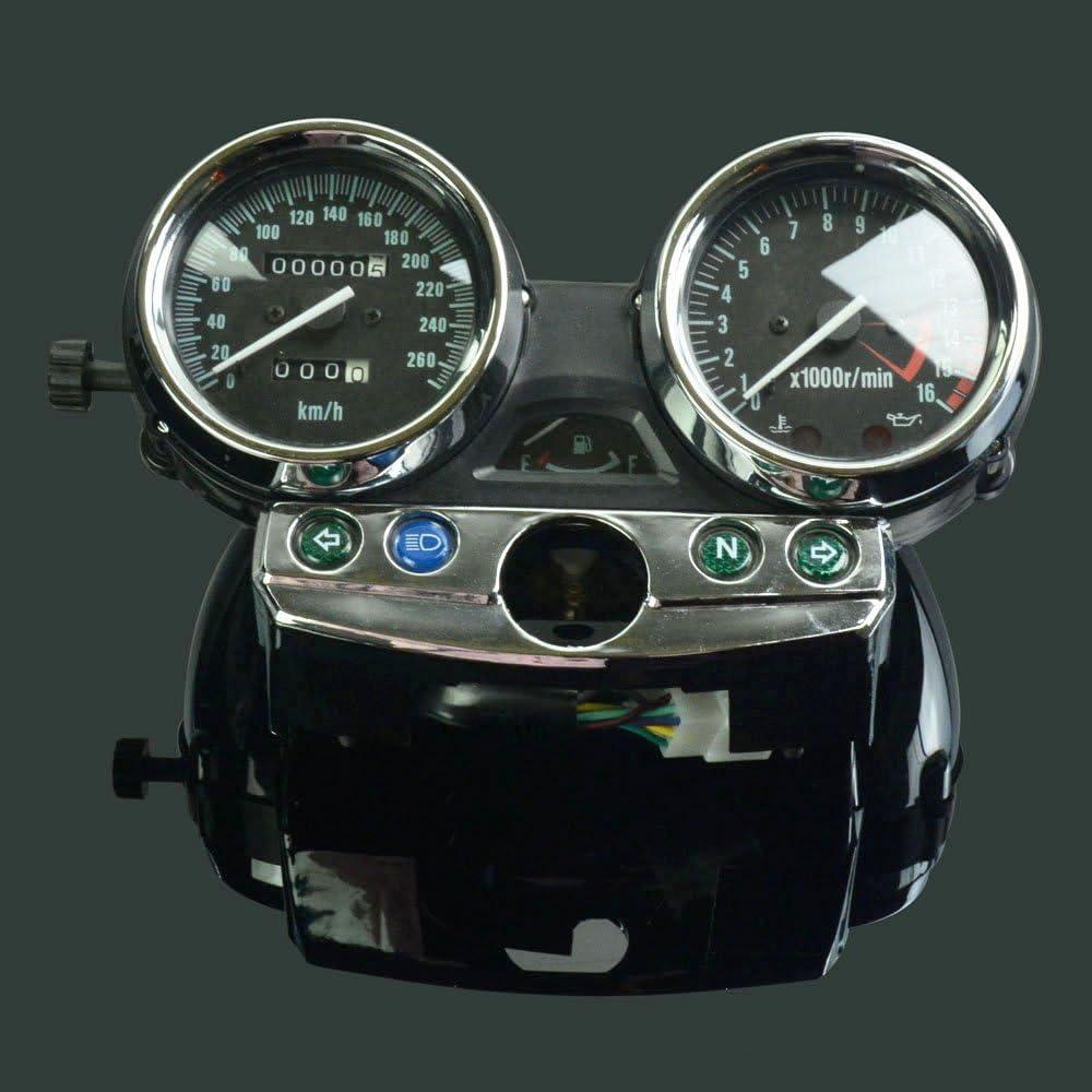 Moto Kawaski tachym/ètre Odom/ètre Instrument Jauge de Compteur de Vitesse Cluster M/ètre pour Kawaski Zrx400 Zrx750 Zrx1100 1998-2008 Les 260
