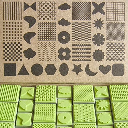 Np Crafts 33 Rubber Stamp Scrapbook Card Making Pattern Symbol Icon Cute Shape Decroative Rubber Stamps (CR004)