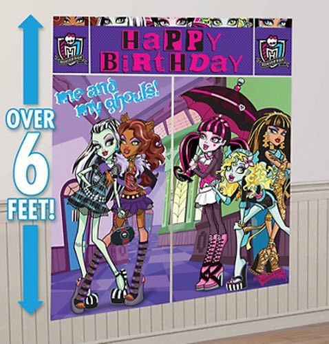 Monster High Scene Setters Wall Banner Decorating Kit Birthday Party Supplies ()