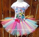Frozen Tutu Set, Elsa & Anna Birthday Outfit,Snow Queen Tutu, Forever After Tutu