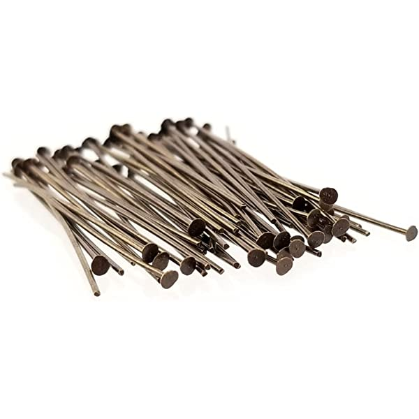 300 pcs Antique Bronze Head Pins Jewelry Findings Tools Supplies #21H Pin