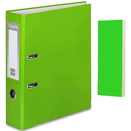 Carpeta archivadora de anillas con palanca de color verde ...