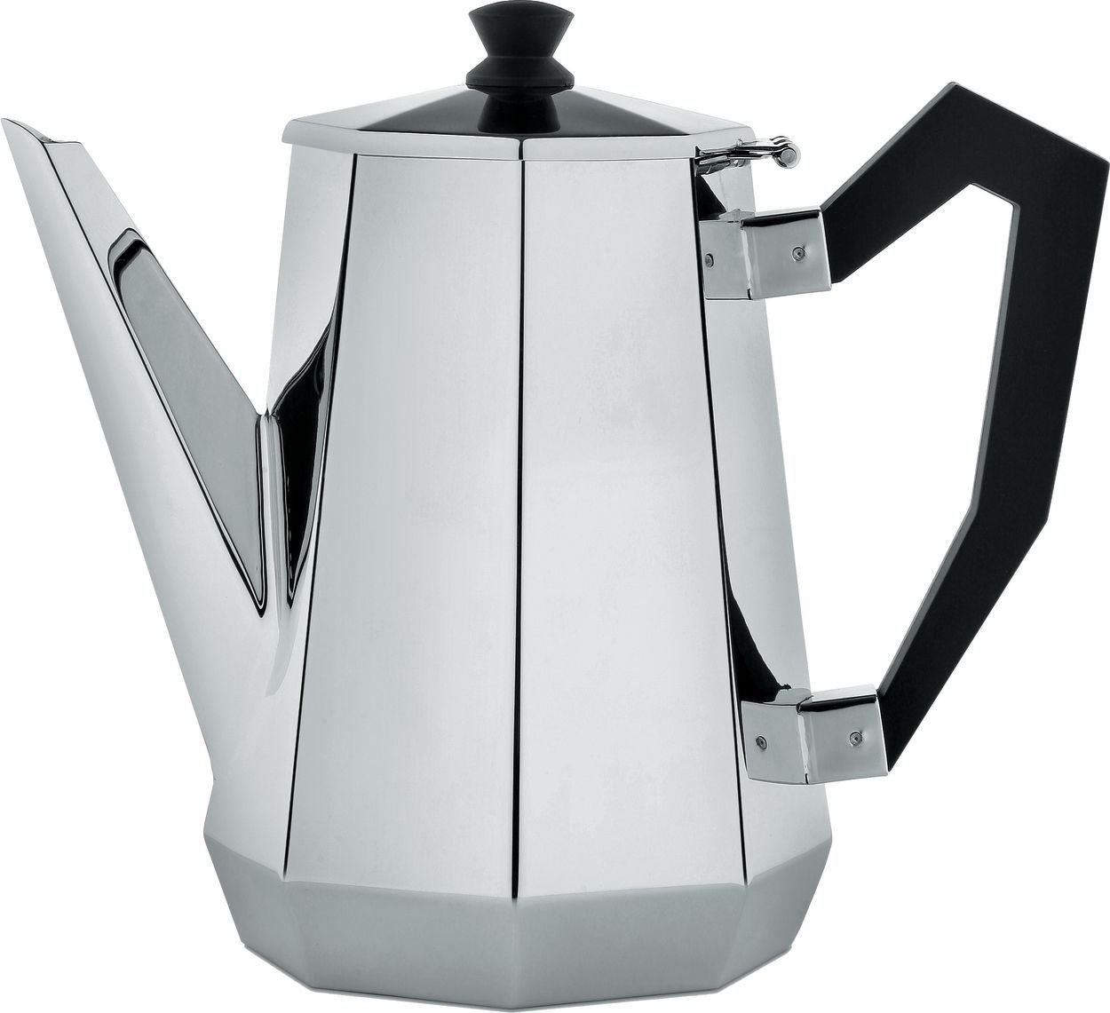 Alessi CA111 Ottagonale Coffee Pot, Black