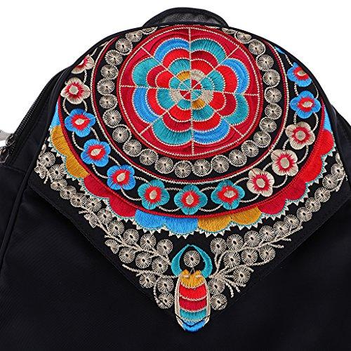 Retro Ethnic Embroidered Vintage Gift Woman Shoulder FLAMEER School Bag Backpack Bag Sx4nwwa