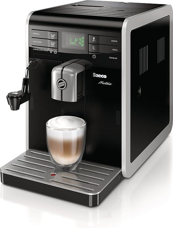 Saeco Moltio HD8768/08 - Cafetera (Independiente, Máquina espresso, 1,9 L, Molinillo integrado, 1850 W, Negro): Amazon.es: Hogar