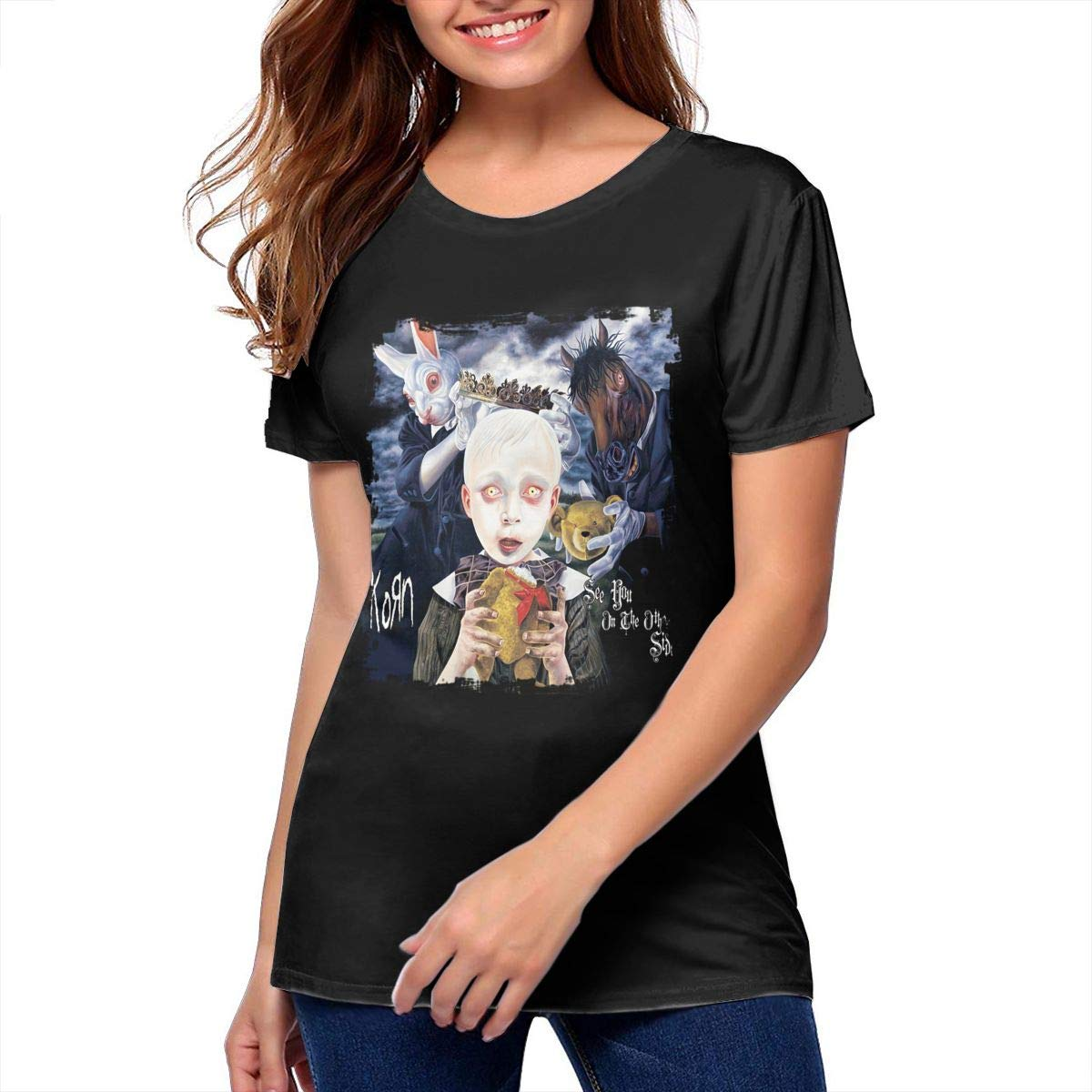 Korn See You On The Other Side Cotton Womens T Shirts Funny Women Top Black