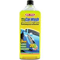 Ma-Fra MAH0930 Shampoo e Cera Car Wash, Giallo Fluo, 1000 ml