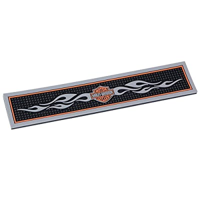 Harley-Davidson Bar & Shield Flames Beverage Mat: Harley-Davidson: Sports & Outdoors