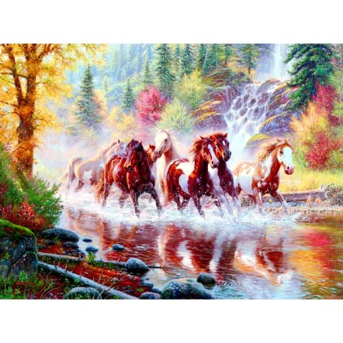 Sunsout Born to Run 1000 Piece Jigsaw Puzzle