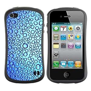 LASTONE PHONE CASE / Suave Silicona Caso Carcasa de Caucho Funda para Apple Iphone 4 / 4S / Drops Fresh Water Reflection Blue