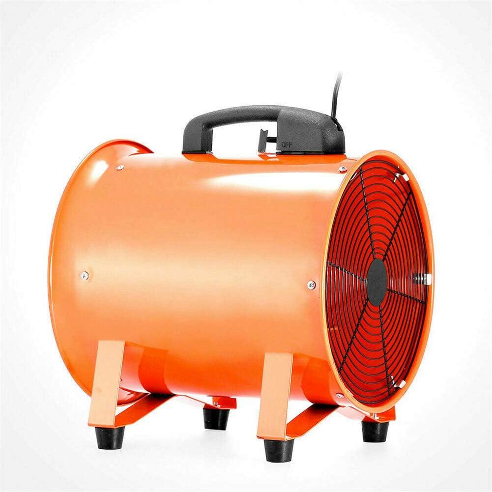 12 inch Gebl/äse Bauventilator 2800 U//min Kanall/üfter Rohrgebl/äse Rohrventilator Ventilator Axialventilator Rohr Kanal 5m Schlauch