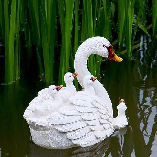 Flotador De Agua De Cisne Flotante Adornos Artesanales Flotantes para Estanques - Jardín O Estanque De Arte: Amazon.es: Hogar