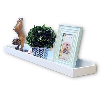 Wallniture Home Decor Floating Shelf Wall Mount Tray Storage White 31 Inch