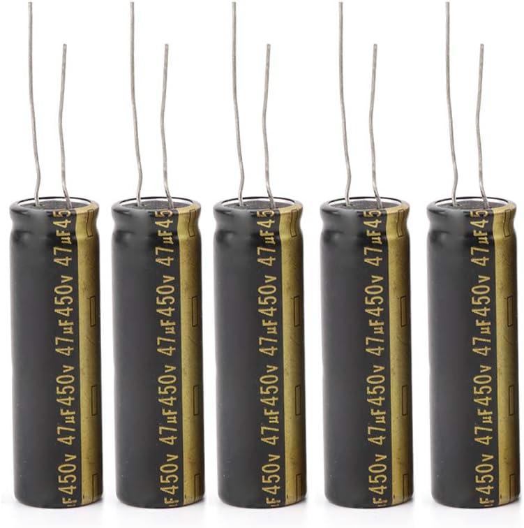 Condensadores electrolíticos de aluminio para LCD TV LED, 5 unidades, 450 V, 47 UF, 13 x 42 mm: Amazon.es: Hogar