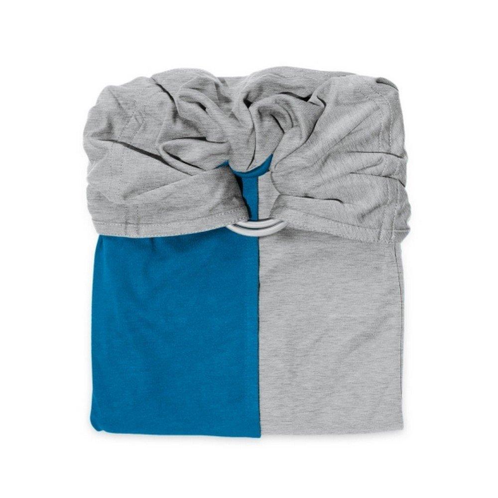 Petite Echarpe sans Noeud - Gris Chiné, Bleu Canard (Reversible) - JPMBB - Porte Bébé Sling Je Porte Mon Bébé PESN5051-S