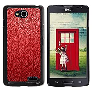 Be Good Phone Accessory // Dura Cáscara cubierta Protectora Caso Carcasa Funda de Protección para LG OPTIMUS L90 / D415 // Red Leather Pattern
