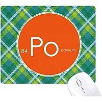 Chemistry Elements Period Table Semimetal Polonium Po Green Lattices Grid Pixel Mouse Pad