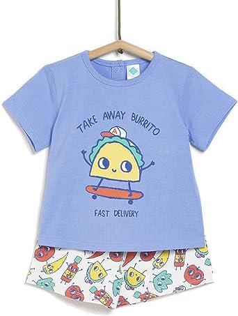 TEX Pijama de Manga Corta para Hombre