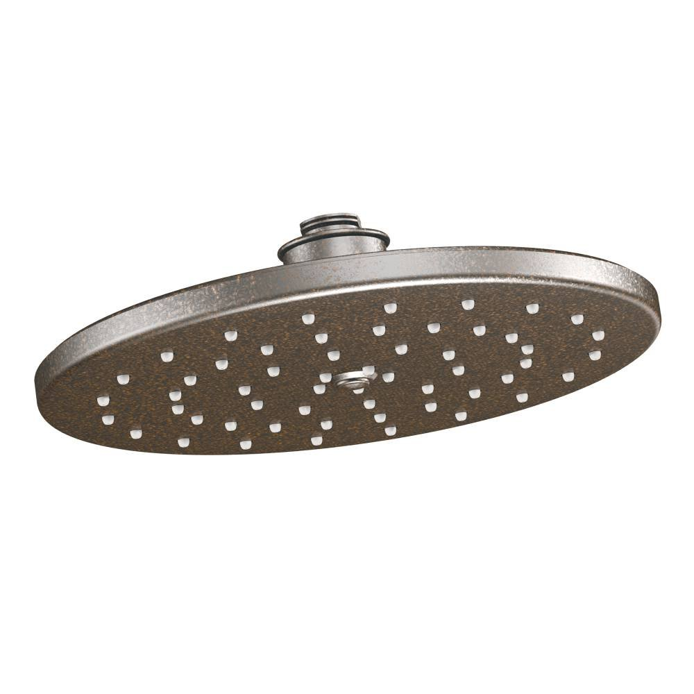 Moen S112EPORB Waterhill 10'' Eco-Performance One-Function Rainshower Showerhead with Immersion Technology at 2.0 GPM Flow Rate, Oil Rubbed Bronze