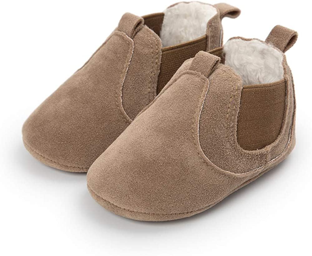 Morbuy First Walking Baby Shoes Autumn and Winter Newborn Infant Gril Soft Anti-Slip Cute Sneaker Sole Keep Warm Crib
