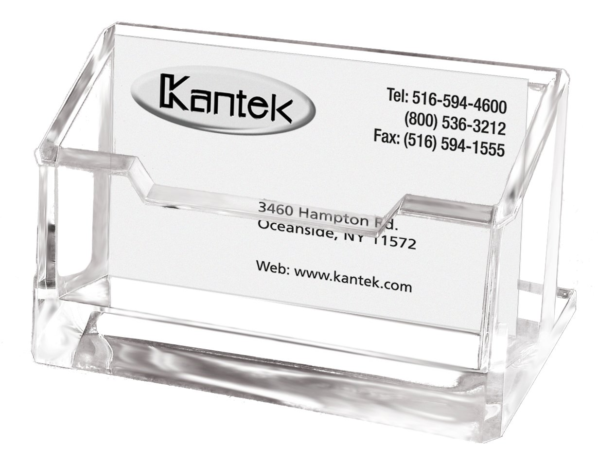 Amazon.com : Kantek Acrylic Business Card Holder, Fits 80 Business ...