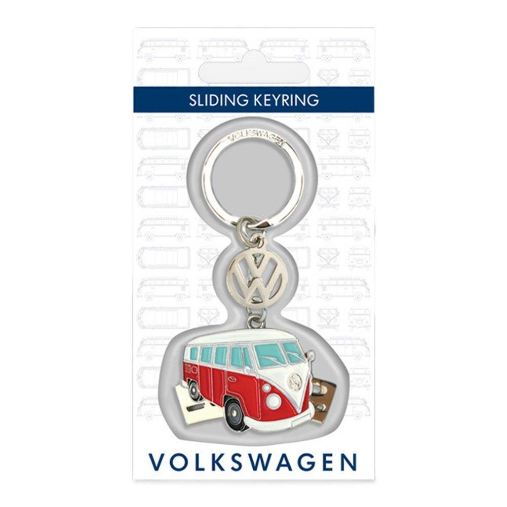 Oficial VW Camper deslizante de metal llavero – Rojo y Plata