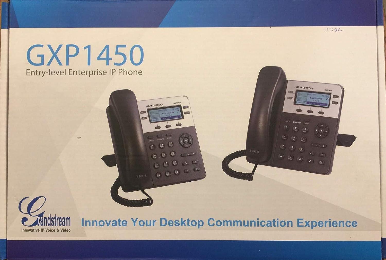 Grandstream GXP-1450 - Teléfono IP (PoE, 2 cuentas SIP, 180x60 píxeles, pantalla retroiluminada): Amazon.es: Electrónica
