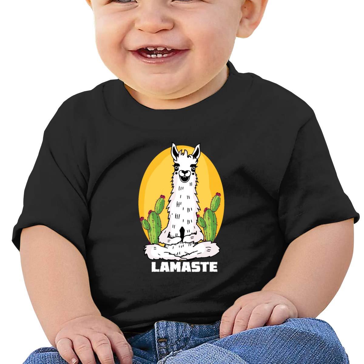 Moniery Yoga Llama Namaste Short Sleeve Shirts Baby Boy Infant
