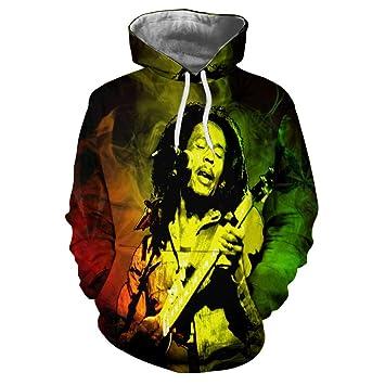 WEIYIGE Suéter con Estampado De Reggae En 3D Porque Sudadera con Capucha De Manga Larga Bob Marley: Amazon.es: Deportes y aire libre