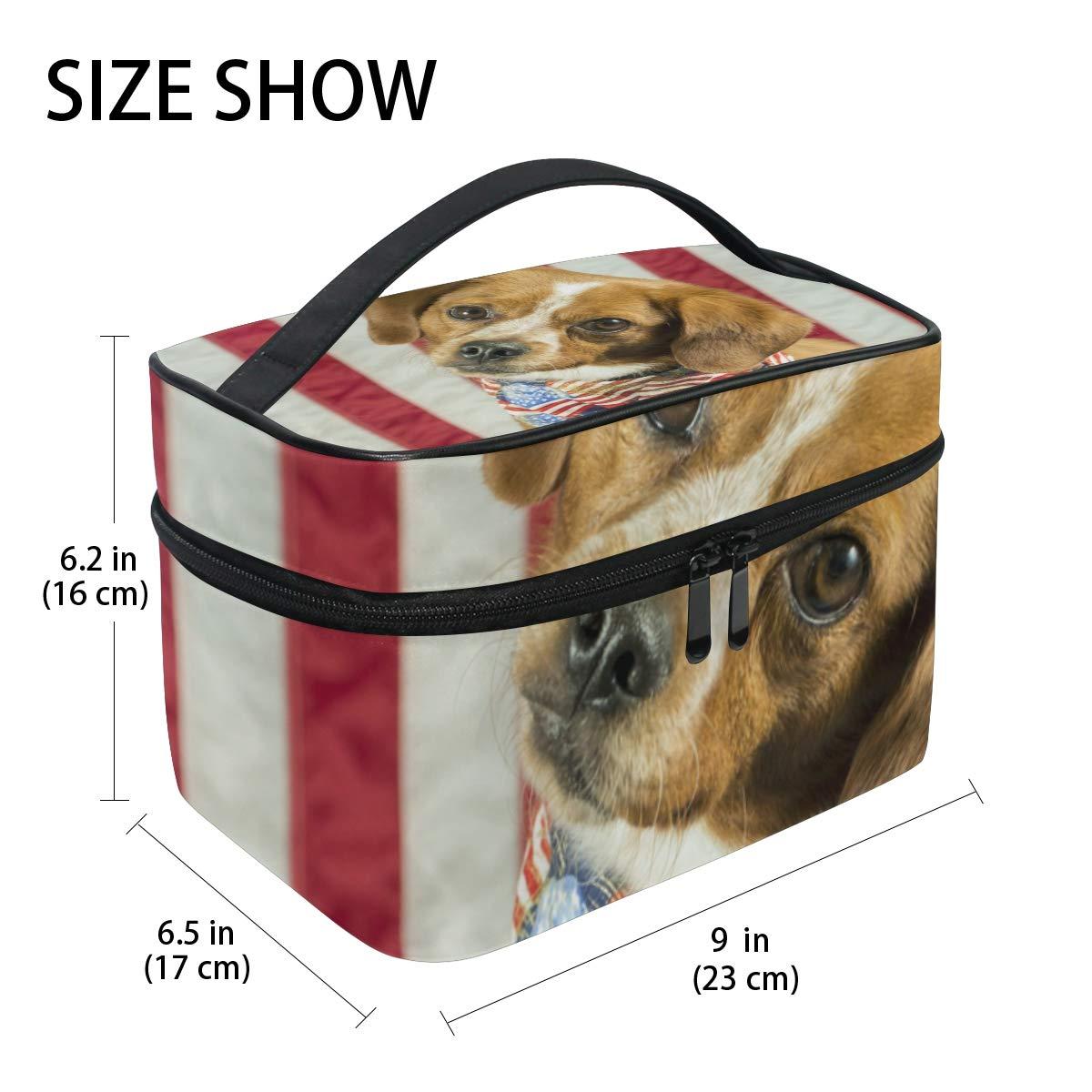 7a8328b07610 Amazon.com : Makeup Bag Square Cosmetic American Cute Beagle Dog ...