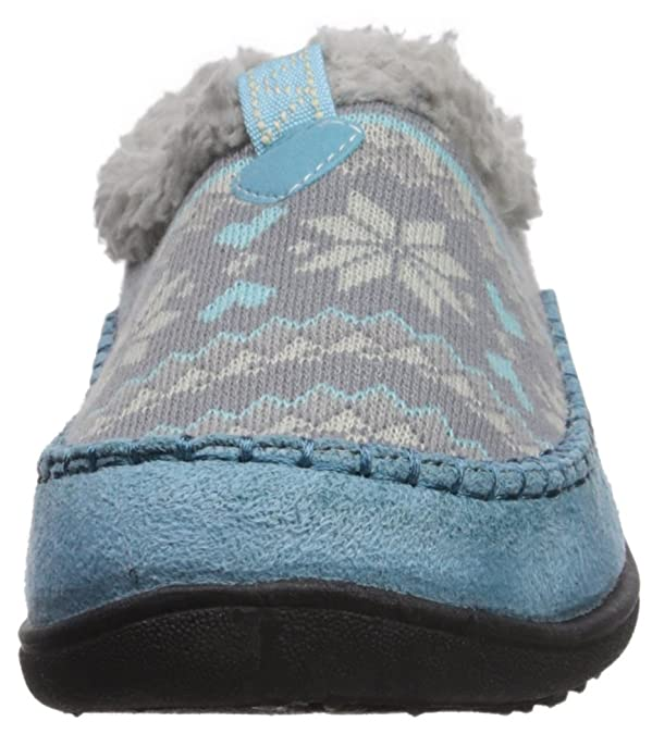 Northside Girls' Ana Slipper, Gray/Blue, Size 1 Medium US Little Kid