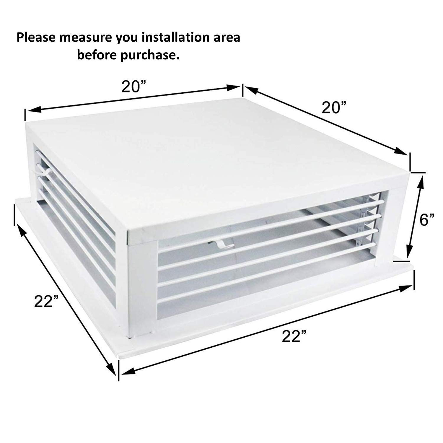 GSW DF-18P 18-Inch White Powder Coated 4-Way Adjustable Metal Diffuser for Evaporative//Swamp Cooler