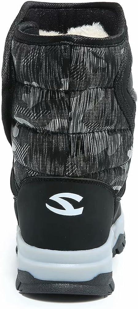 Black1, 6.5 GUBARUN Boys Snow Boots Kids Outdoor Warm Shoes Waterproof