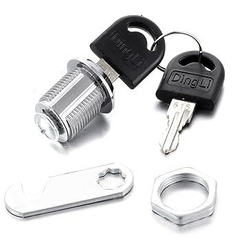 atoplee 20 mm Gabinete Armario de bloqueo Cam Lock cerraduras para buzón cajón armario armario de llaves con llaves: Amazon.es: Oficina y papelería