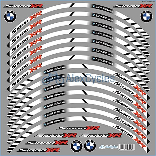BMW S1000XR Wheel Rim Laminated Vinyl Stripes Decals Stickers Kit -  AlexCycles, 4282
