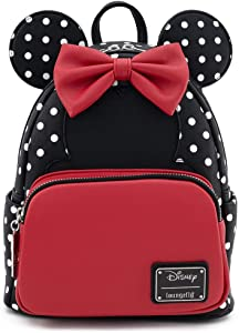 Loungefly Disney Minnie Mouse Polka Dot Womens Double Strap Shoulder Bag Purse
