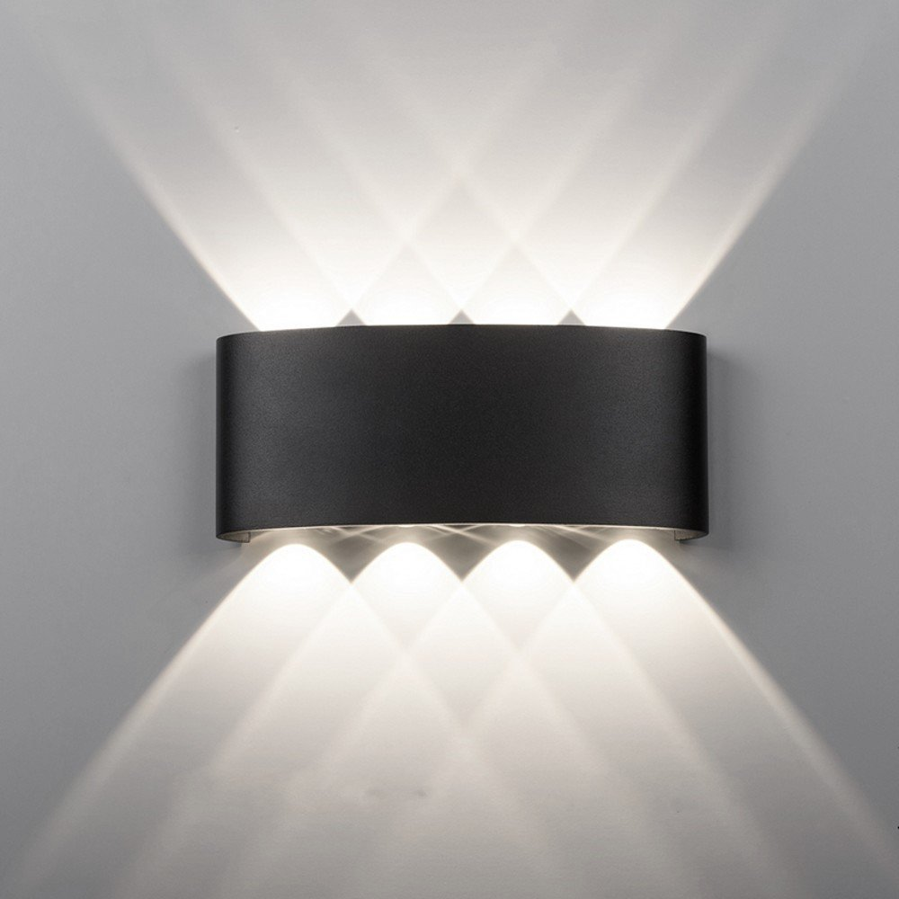 Maxmer 8w modern led wall light sconce ip68 waterproof wall lighting indoor outdoor double up down wall light cool white