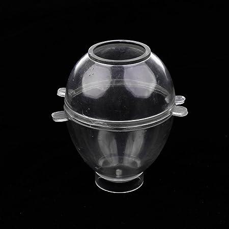 2er Pack Kunststoff Ei Form Runde Kugel Ball Form Kerzenform Seifenform DIY