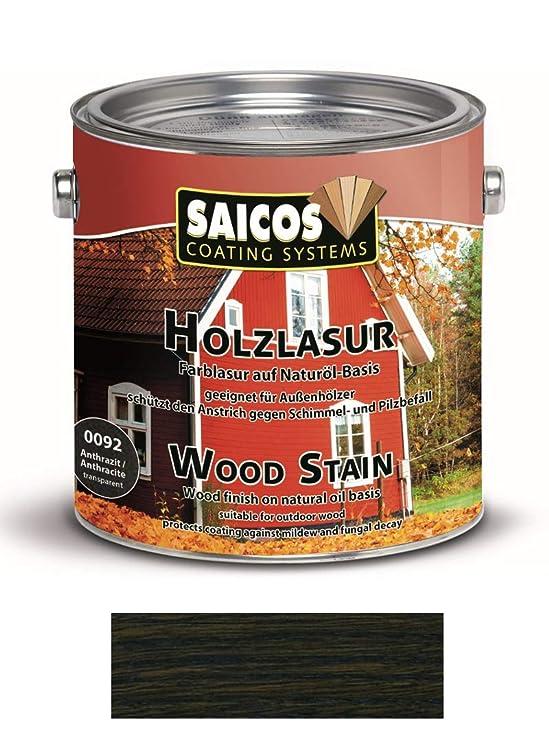 Saicos Holzschutzlasur 0092 Anthrazit 2 5 Liter Gebinde