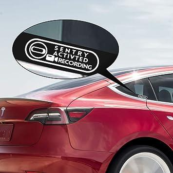 Amazoncom Motrobe Tesla Model 3 Sentry Mode Window Decal