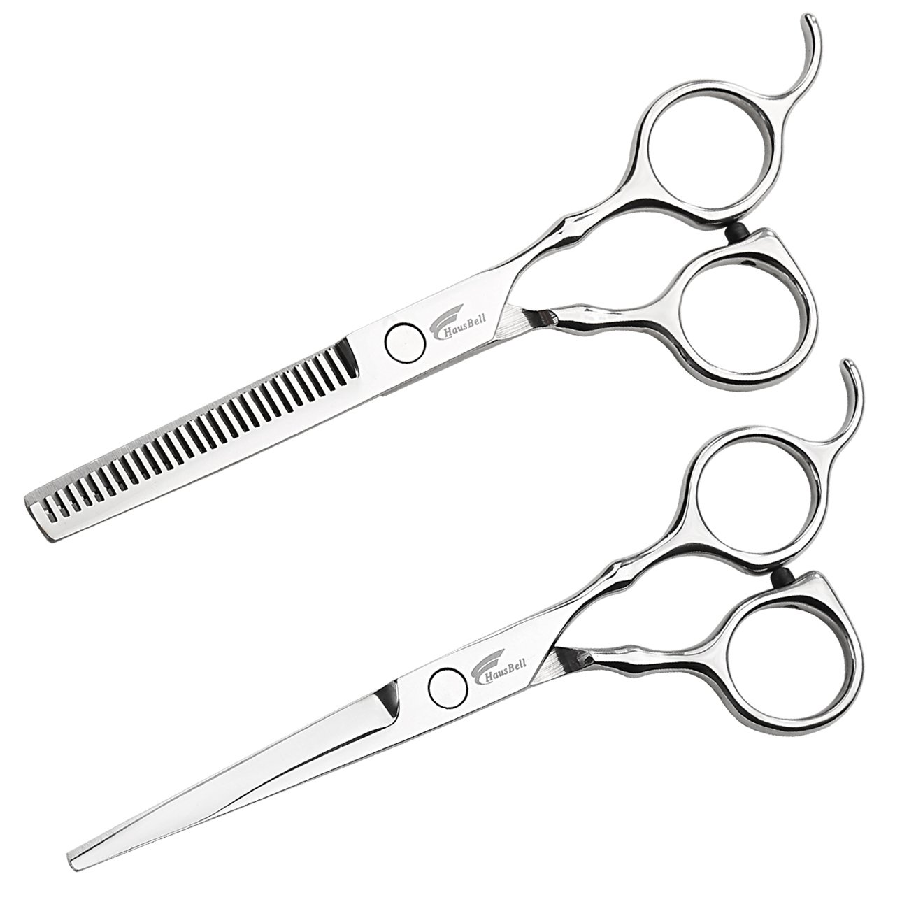 Hair Scissors, HAUSBELL Professional 6'' Hair Stylist Barber Scissors Hair Shears Thinning Scissors Set for Hair Cutting