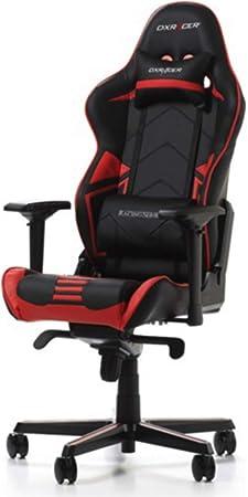DX-Racer 1 Bürostuhl Gamingstuhl Schreibtischstuhl Chefsessel Gaming Schwarz//Rot