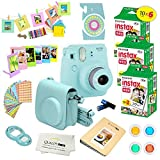 Photo : Fujifilm Instax Mini 9 Instant Camera ICE BLUE w/ Fujifilm Instax Mini 9 Instant Films (60 Pack) + A14 Pc Deluxe Bundle For Fujifilm Instax Mini 9 Camera