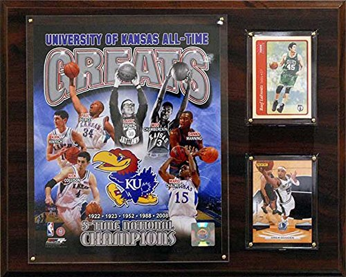 CandICollectables 1215KANSASGR NCAAB 12 x 15 in. Kansas Jayhawks All-Time Great Photo Plaque from CandICollectables