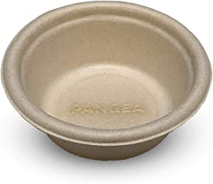Pangea Large Biodegradable Gecko Food & Water Cups 100 Ct, tan (LPC-100)