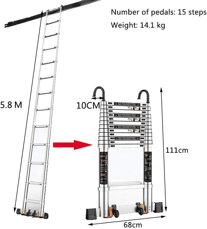 Escalera escamoteable Escalera telescópica desmontable con gancho ...