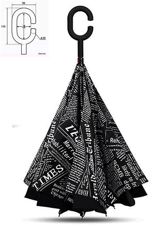 Parapluie de voyage coupe-vent et r/ésistant aux UV avec poign/ée en forme de C Dragon Flame Parapluie invers/é pliant Parapluie de voiture double couche invers/é